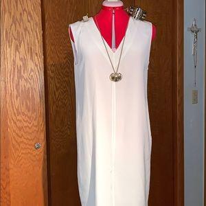 Tibi New York off white silk dress
